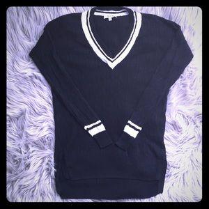 Madewell Navy Linen Sweater Size XS